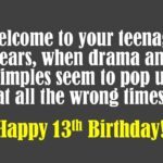 13th Birthday Quotes Pinterest