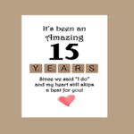 15 Year Anniversary Quotes Facebook