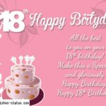 18th Birthday Wishes Pinterest