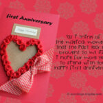 1st Marriage Anniversary Message
