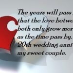 20th Wedding Anniversary Message