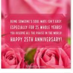 25th Anniversary Wishes Facebook