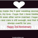 2nd Wedding Anniversary Quotes For Wife Twitter