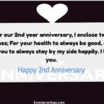 2nd Year Wedding Anniversary Wishes