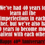 40th Anniversary Messages Facebook