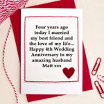 4th Wedding Anniversary Wishes For Husband