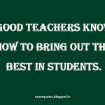 A Good Thought For Teachers Day