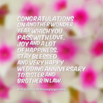 Anniversary Wishes For Sister And Brother In Law Pinterest