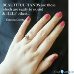 Beautiful Hand Quotes