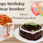 Birthday Greetings For Brother Facebook