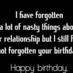 Birthday Message For Ex Boyfriend
