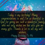Birthday Message For Self Pinterest
