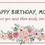 Birthday Wishes For Mum Pinterest