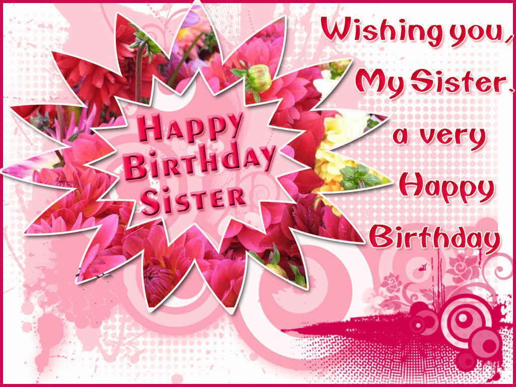 Birthday Wishes For Sister Quotes Facebook Visitquotes