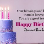 Birthday Wishes For Teacher On Twitter
