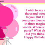 Birthday Wishes Words