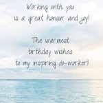 Colleague Birthday Quote | Staff Birthday Card Wishes