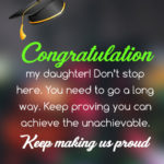 College Graduation Wishes For Daughter