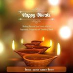 Diwali Wishes With Own Name Pinterest