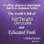 Educated Fool Quotes Tumblr