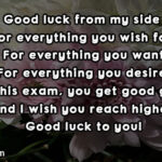 Exam Wishes Text Pinterest