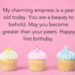 First Birthday Wishes For Baby Girl Twitter