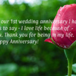 First Marriage Anniversary Message Pinterest