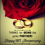 First Wedding Anniversary Message Facebook