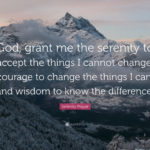 God Please Grant Me The Serenity Quote