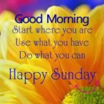 Good Morning Quotes On Sunday Facebook