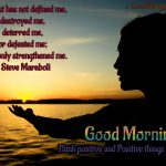 Good Morning Quotes Positive Attitude Facebook