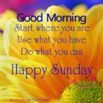 Good Morning Sunday Quotes With Images