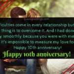 Happy 10th Wedding Anniversary Wishes Pinterest