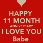 Happy 11th Month Anniversary Facebook