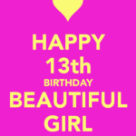 Happy 13th Birthday To My Daughter Facebook