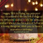 Happy 18th Birthday Wishes To My Daughter Facebook