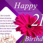 Happy 21st Birthday Wishes Pinterest