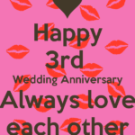 Happy 3rd Wedding Anniversary Wishes Twitter