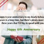 Happy 6th Anniversary Wishes Pinterest