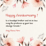 Happy Anniversary Wishes To Brother And Sister In Law Pinterest