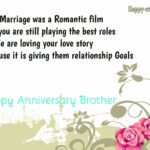 Happy Anniversary Wishes To Brother Pinterest