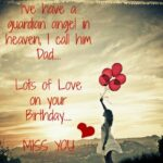 Happy Birthday Dad In Heaven Quotes From Daughter Pinterest