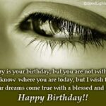 Happy Birthday Sad Quotes Facebook