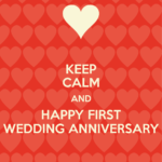 Happy First Marriage Anniversary