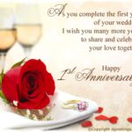 Happy First Wedding Anniversary Quotes Pinterest