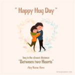 Happy Hug Day With Name