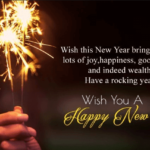 Happy New Year Wishes Quotes In English Pinterest
