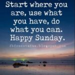 Happy Sunday Positive Quotes Facebook