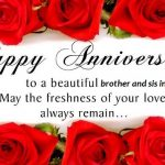 Happy Wedding Anniversary Brother And Sister In Law