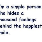 Hides Pain Smile Quote